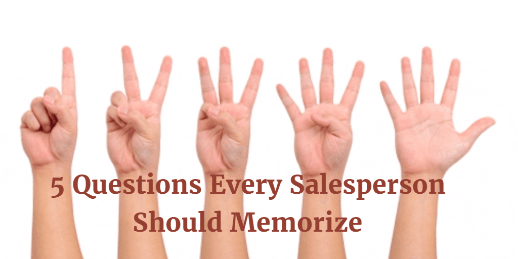 five sales questions