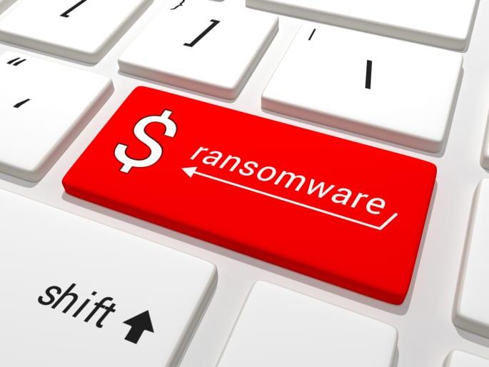 Ransomware dollar key on a keyboard