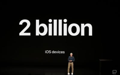 Apple is about to ship its 2 billionth iOS device