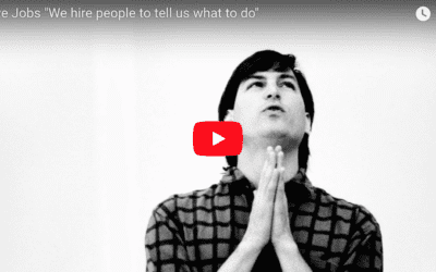 "Steve Jobs ""We hire people to tell us what to do"""